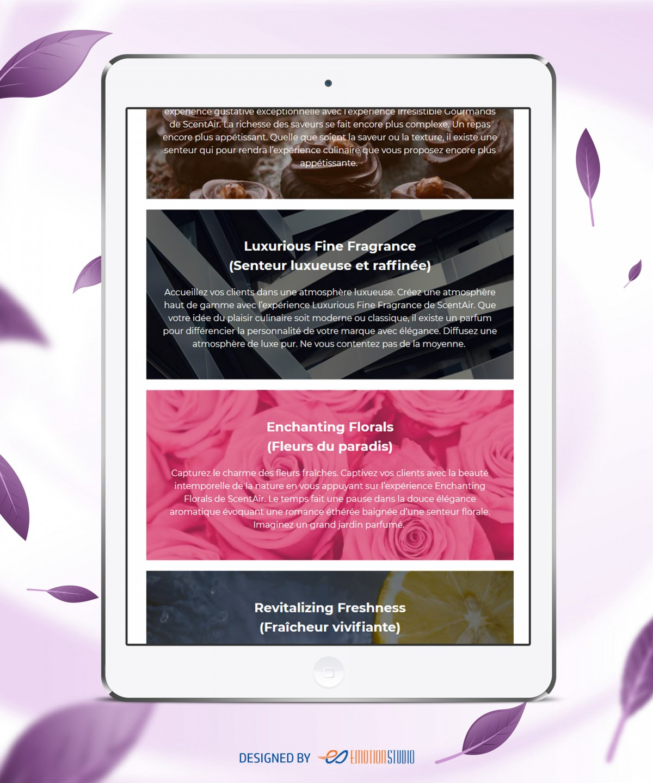 Site web Fragransair réalisé par Emotion Studio