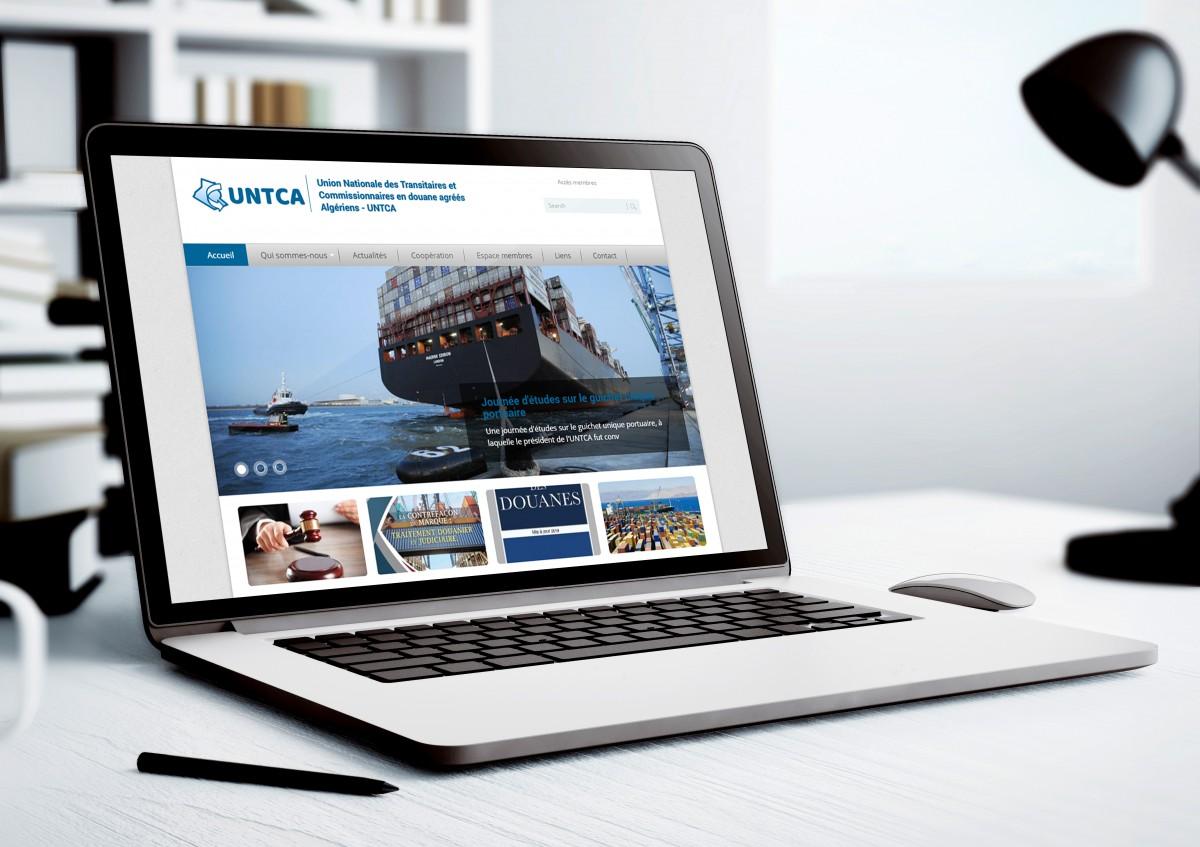 site web de l'UNTCA réalisé par Emotion Studio